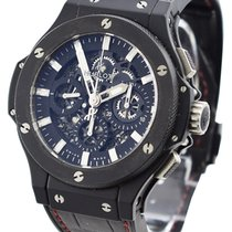 Hublot Big Bang Aero Bang pre-owned 44.5mm Transparent Crocodile skin