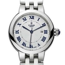 Tudor Clair de Rose Steel 30mm Silver Roman numerals