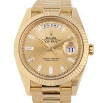 Rolex Day-Date 40 Gelbgold 40mm Gold Keine Ziffern Schweiz, Lugano