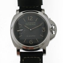 Panerai Luminor Marina 8 Days Stal 44mm Czarny Arabskie