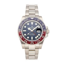 Rolex 126719BLRO White gold GMT-Master II 40mm pre-owned