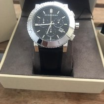 Burberry Burberry black dial leather strap men's bu2306 watch new