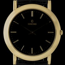 Concord 18k Yellow Gold Manual Wind Gents Dress Wristwatch...