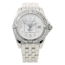 Breitling Galactic A71356 - Mother of Pearl Dial - Diamond Bezel