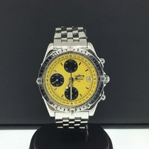 Breitling Chronomat Longitude 40mm Steel Chronograph Yellow...