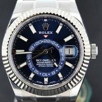 Rolex Sky-Dweller 42MM Blue Dial Steel White Gold Bezel Full Set