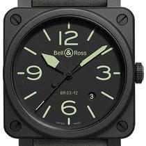 Bell & Ross BR 03-92 Ceramic new 2021 Automatic Watch with original box BR0392-BL3-CE/SCA BR 03-95 Nightlum