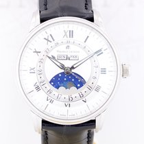Maurice Lacroix Masterpiece Phases de Lune Steel 40mm Silver Roman numerals