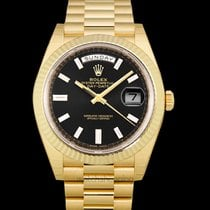 Rolex Day-Date 40 Yellow gold 40mm Black United States of America, California, San Mateo