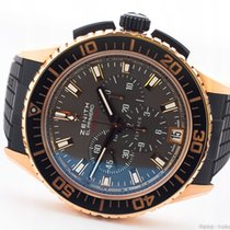 Zenith Rose gold Automatic Brown 45,5mm pre-owned El Primero Stratos Flyback