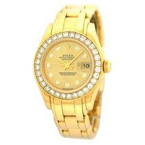 Rolex Lady-Datejust Pearlmaster Oro amarillo 29mm Champán