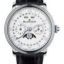 Blancpain Villeret Complete Calendar Steel 40mm White Roman numerals