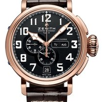 Zenith 87.2430.4054/21.C721 Rose gold Pilot Type 20 Annual Calendar 48mm pre-owned