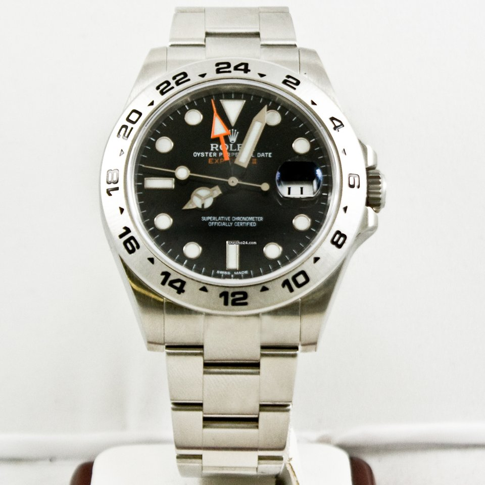 Rolex 42mm Explorer II Watch 216570 Black Face