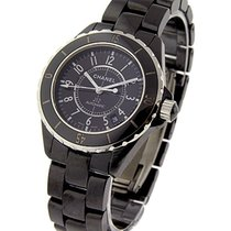 Chanel H0685 Chanel 38mm J12 H0685 - Black Ceramic on Bracelet...