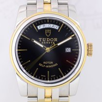 Tudor Glamour Date-Day Gold/Steel 39mm Black No numerals
