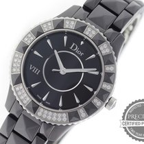 Dior Ceramic Quartz Black No numerals 38mm new VIII