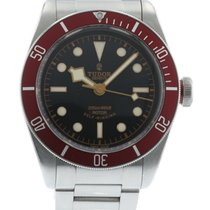 Tudor Heritage Black Bay Red 79220R Watch with Stainless Steel...