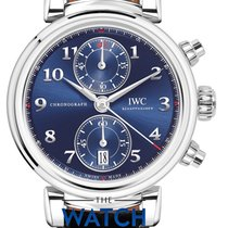IWC Steel 42mm Automatic Da Vinci Chronograph new