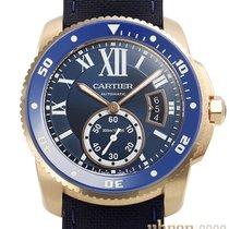 Cartier Красное золото Автоподзавод Синий Римские 42mm новые Calibre de Cartier Diver