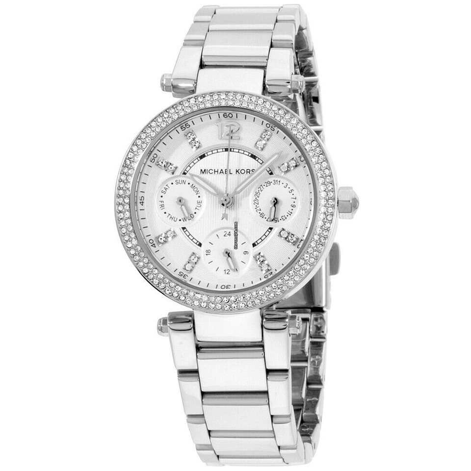 eec13a76e94c Michael Kors Parker Silver Dial Stainless Steel Ladies Watch... for  149  for sale from a Seller on Chrono24