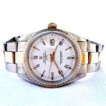 Rolex Oyster Perpetual Date Acero y oro 35mm Blanco Romanos Argentina, Santa Fe
