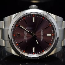 Rolex Oyster Perpetual 39 Steel 39mm Bordeaux No numerals United Kingdom, Essex