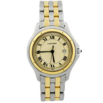 Cartier Cougar Gold/Steel 33mm Silver Roman numerals United States of America, California, Fullerton