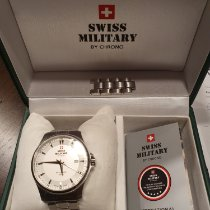 Swiss Military Steel 39mm Automatic SMA34025.02 pre-owned