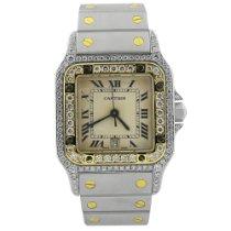 Cartier Santos Galbée Gold/Steel 29mm White Roman numerals United States of America, California, Fullerton