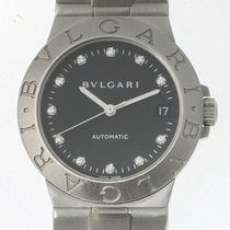 Bulgari Diagono Steel 35mm Black No numerals United States of America, California, beverly hills