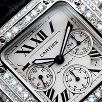 Cartier Santos 100 Xl Chronograph 17ct Natural Diamonds
