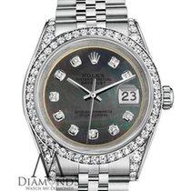 Rolex Lady-Datejust Acero 26mm Negro Sin cifras
