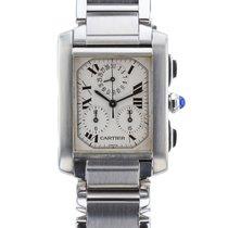 Cartier Tank Francaise  Chronoflex Quartz W51001Q3 Mid-Size WATCH