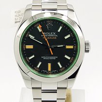 Rolex Milgauss 116400v Black Dial Green Crystal M Serial Complete