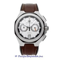 Girard Perregaux Chrono Hawk pre-owned 45mm Silver Chronograph Date Leather