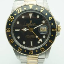 Rolex GMT-Master Two Tone Black Dial Oyster bracelet band