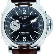 Panerai stainless steel Luminor GMT Acciaio