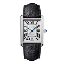 Cartier Tank Solo XL New Model Steel Leather Mens Watch WSTA0029