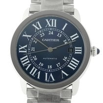 Cartier Ronde Croisière de Cartier Steel 42mm Blue Roman numerals United States of America, New York, New York