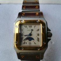 Cartier Santos Galbée usado 23mm Ouro/Aço