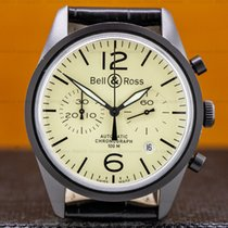 Bell & Ross Chronograph 41mm Automatic pre-owned Vintage Yellow