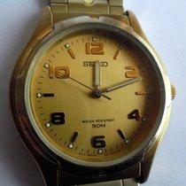 Seiko używany Kwarcowy 36mm Złoty