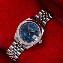 Rolex Lady-Datejust Acier 31mm Bleu Romain
