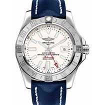 Breitling Avenger II GMT Steel 43mm Silver No numerals