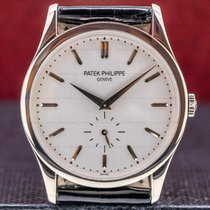 Patek Philippe Calatrava White gold 37mm Silver