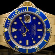 Rolex Submariner Date Oro amarillo 40mm Azul