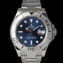 Rolex Сталь Автоподзавод Синий 40mm подержанные Yacht-Master 40