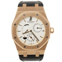Audemars Piguet Royal Oak Dual Time Rose gold 39mm Silver No numerals United States of America, California, Los Angeles