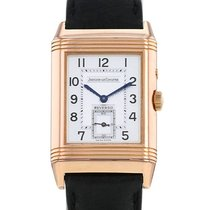 Jaeger-LeCoultre Or rose Remontage manuel Argent Arabes occasion Reverso Duoface